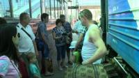 Donetsk residents flee to Russia as Ukraine army nears
