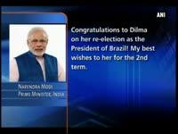 PM Modi congratulates Dilma Rousseff on re-election as Brazi...