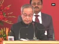 President Mukherjee inaugurates India International Trade Fa...