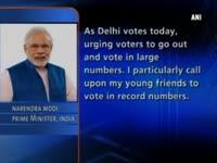PM Modi calls upon people of Delhi to vote