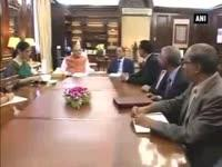 Finance Minister Arun Jaitley meets his Mauritian counterpart
