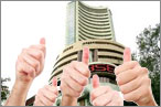Sensex revisits 28k, ends up 409pts