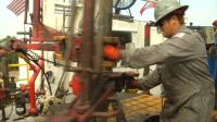 Oil prices spike after U.S. drilling falls