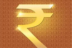Rupee slips into red
